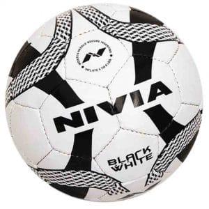 Nivia Football black & white ball (Size 5)