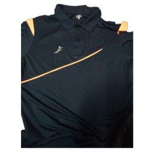 Fino Regular Fit Sports T-Shirt (Black)