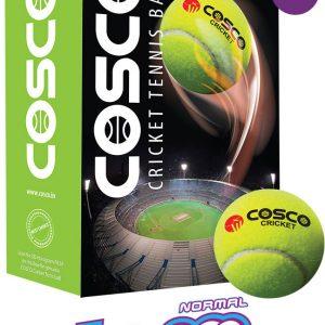 Cosco Light Weight Cricket Tennis Ball (Normal Bounce)