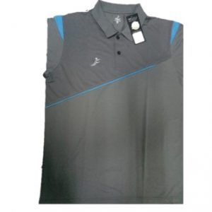 Fino Regular Fit Sports T-Shirt (Grey)